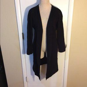Sweaters - Black long cardigan